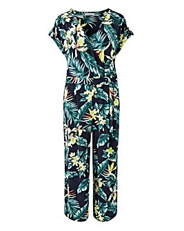 Oasis Tropical Wrap Jumpsuit