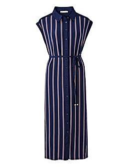 Oasis Stripe Midi Shirt Dress