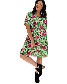 Glamorous Floral Swing Dress