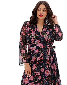 Religion Gem Printed Wrap Dress