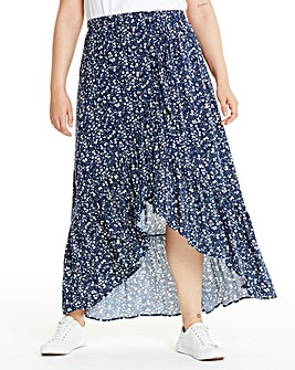 Apricot Ditsy Floral Wrap Skirt