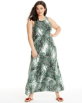 Apricot Tropical Maxi Dress
