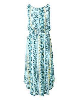 Apricot Hanky Hem Print Dress