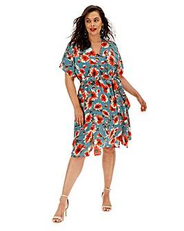 Glamorous Curve Floral Print Midi Dress