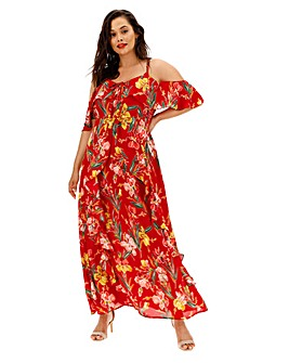 Glamorous Floral Print Maxi Dress