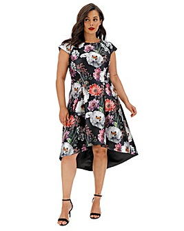 Chi Chi London Printed Dip Hem Dress