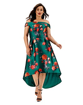 Chi Chi London Printed Bardot Dress