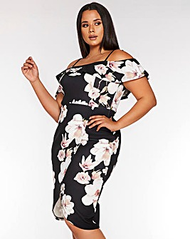 Quiz Bodycon Floral Dress