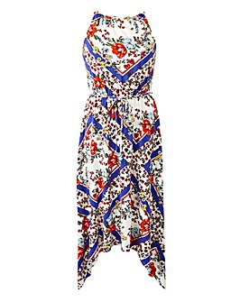 Oasis Scarf Hanky Hem Maxi Dress
