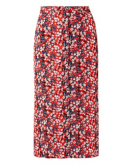 Oasis Ditsy Button Midi Skirt