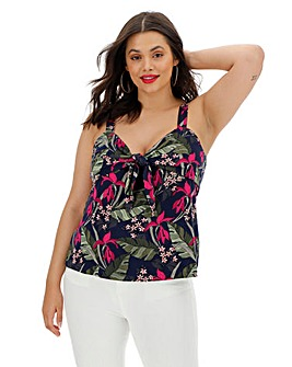 Oasis Tropical Knot Front Cami