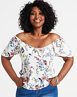 Oasis Botanical Louisa Tie Front Top