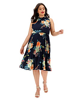 Oasis Botanical Chiffon Midi Dress