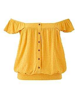 Oasis Dobby Frill Sleeve Corset