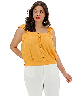 Oasis Frill Sleeve Top