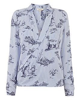 Oasis Toile De Joie Stripe Wrap Shirt