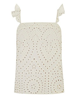 Oasis Brodierie Square Neck Cami