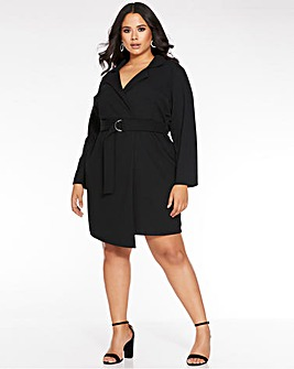 Quiz Tailored Tuxedo Dress