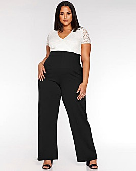 Quiz Lace Wide Legged Jumpsuit