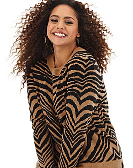 Oasis Curve Tiger Perfect Crew Jumper