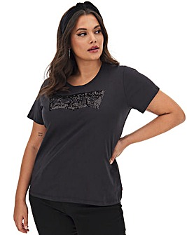 Levi's Charcoal Batwing Sequin T-Shirt