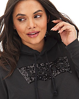 Levi's Charcoal Sequin Print Hoodie
