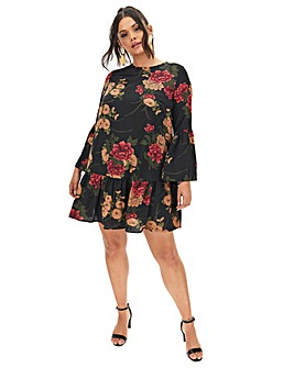 Lovedrobe Ruffle Floral Shift Dress