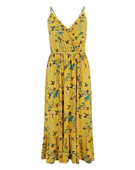 Oasis Curve Botanical Floral Wrap Dress