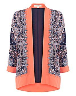 Oasis Curve Paisley Print Kimono