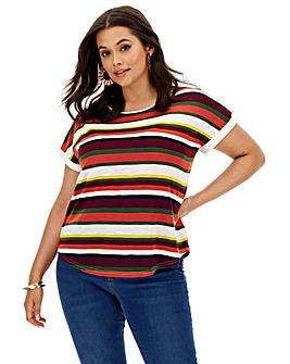 Oasis Curve Bali Stripe T-Shirt