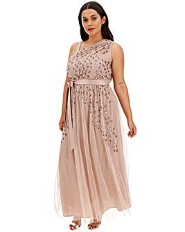 Maya Curve Clustered Sequin Dress