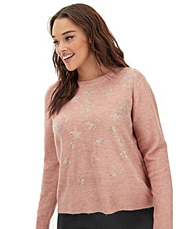 Oasis Curve Star Ombre Jumper