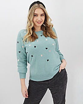 Oasis Curve Embroidered Cosy Jumper