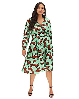 Glamorous Floral Printed Wrap Dress