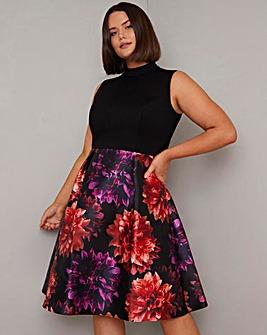 Chi Chi Floral Print Skirt Skater Dress