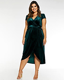 Quiz Velvet Wrap Dress