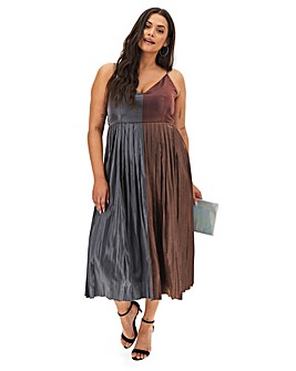 Little Mistress Metallic Midi Dress
