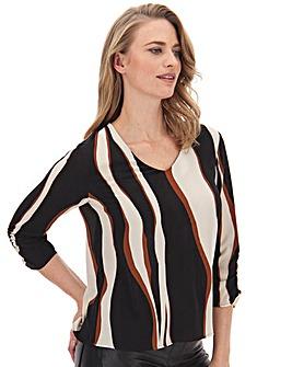 Vero Moda Animal Print 3/4 Sleeve Top