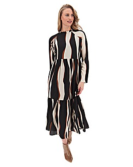 Vero Moda Animal Print Tiered Dress