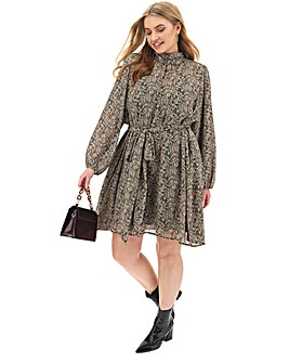 Vero Moda Safari Print Swing Dress