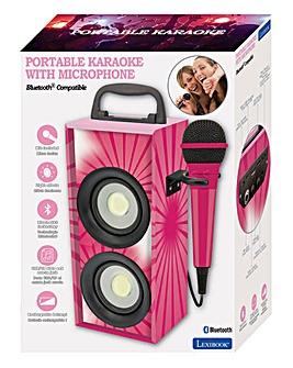 iparty Bluetooth Karaoke Speaker Pink