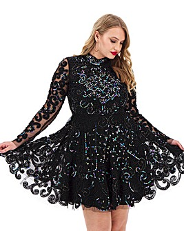 A Star Is Born Embellished Skater Dress