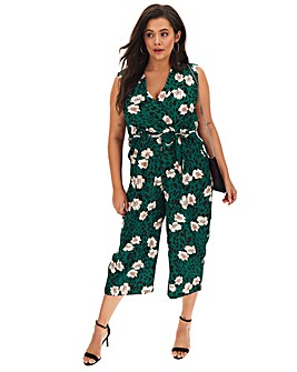 AX Paris V Neck Culotte Jumpsuit