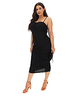 AX Paris Ruched Bodycon Midi Dress