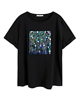 Violeta By Mango Sequin T-Shirt