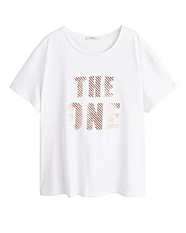 Violeta By Mango Metallic Print T-Shirt
