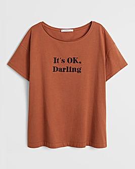 Violeta By Mango Slogan T-Shirt