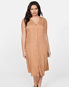 Violeta By Mango Polka Dot Dress