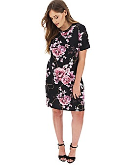 Pink Clove Printed T-Shirt Dress