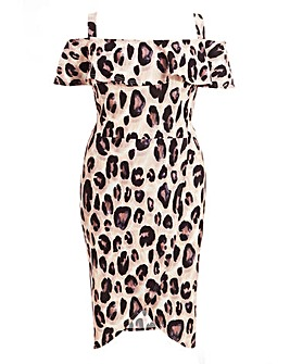 Quiz Leopard Print Wrap Dress